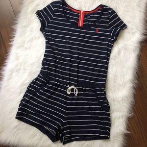 U.S. Polo Assn | Striped Romper w Pockets sz Large